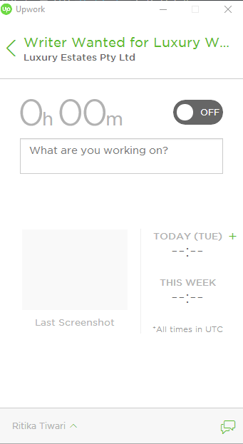 make money on Upwork- Time tracker