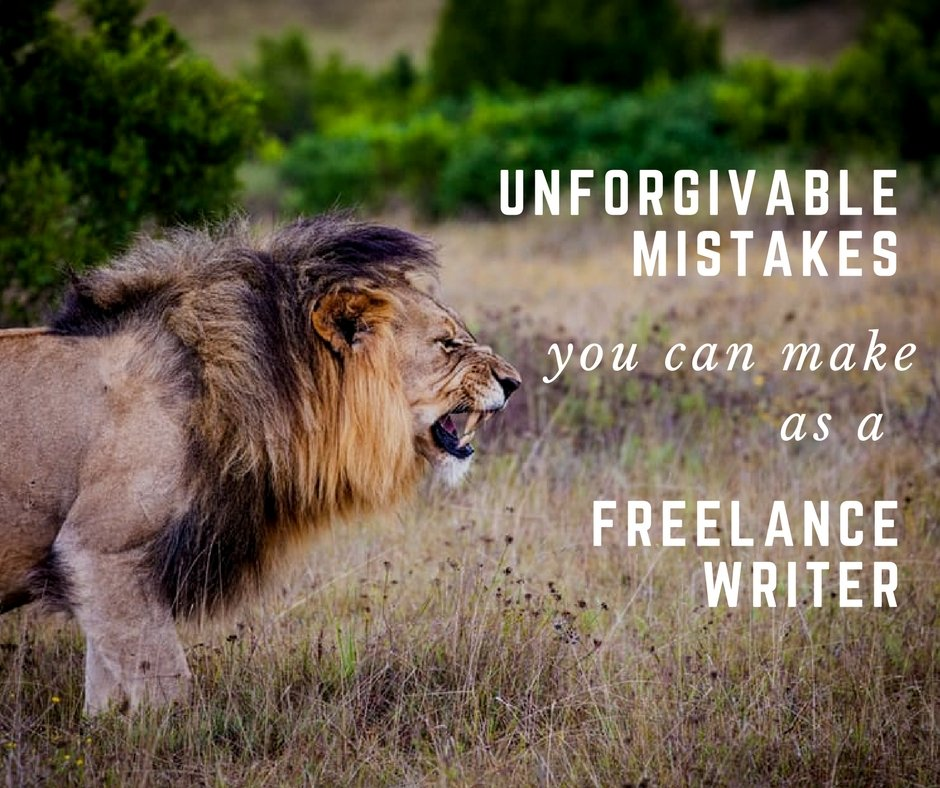 If you too are a freelance content writer, then chances are that you may have also made one of the ten mistakes listed below.