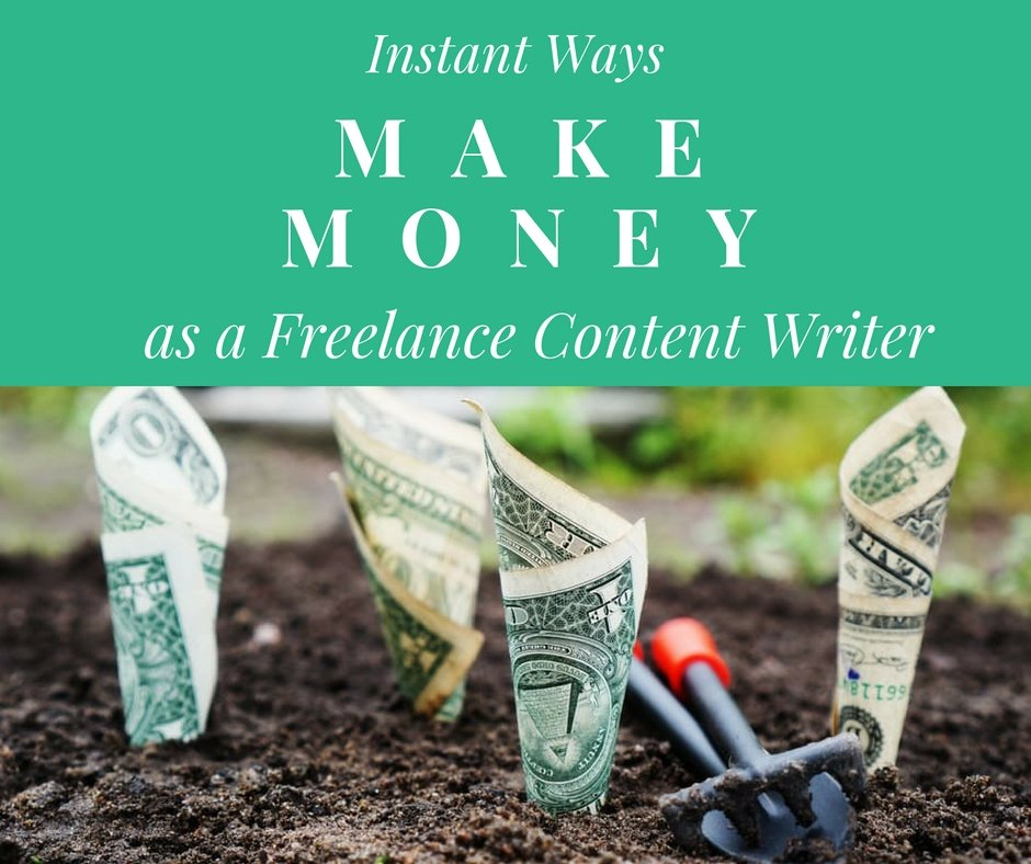 In this article, we will be discussing ways on how you can make instant money as a freelance content writer: