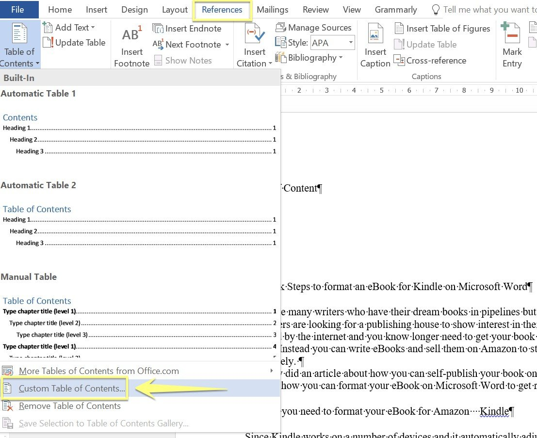 How to write the E-Book in Microsoft Word