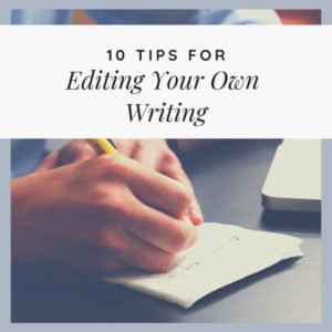 As a freelance writer, you should already accept the fact that first drafts are crappy, which is why you need to focus on editing your own writing impeccably.