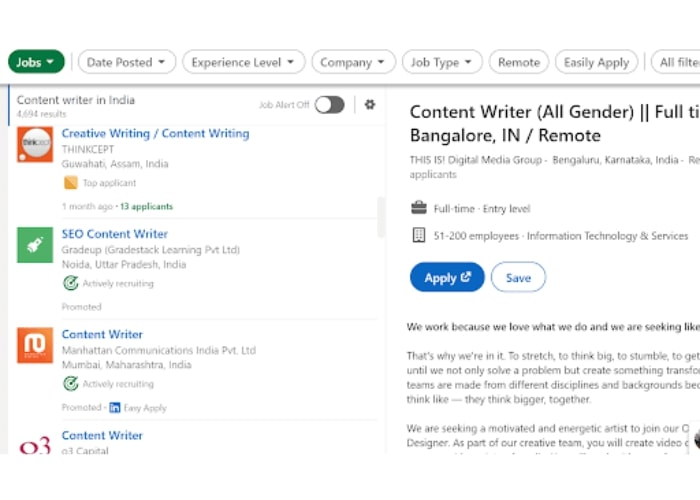 content writer Send Cold Pitches